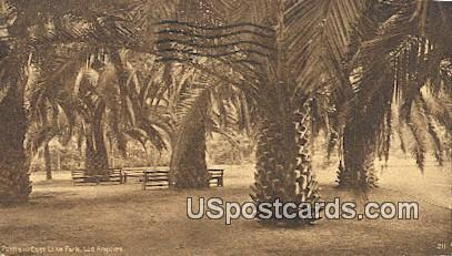 Palms, East Lake Park - Los Angeles, California CA Postcard