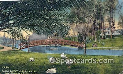Hollenbeck Park - Los Angeles, California CA Postcard