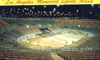 Los Angeles Memorial Sports Arena - California CA Postcard