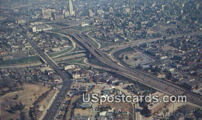 Freeway System - Los Angeles, California CA Postcard