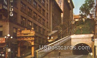 Angels Flight - Los Angeles, California CA Postcard