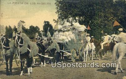 La Fiesta - Los Angeles, California CA Postcard