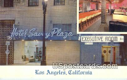 Hotel Savoy Plaza - Los Angeles, California CA Postcard