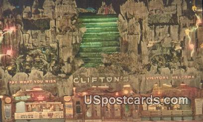 Clifton's Pacific Seas - Los Angeles, California CA Postcard
