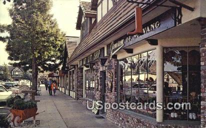 Main Street - Solvang, California CA Postcard