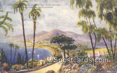 Trail of the Missions - Los Angeles, California CA Postcard