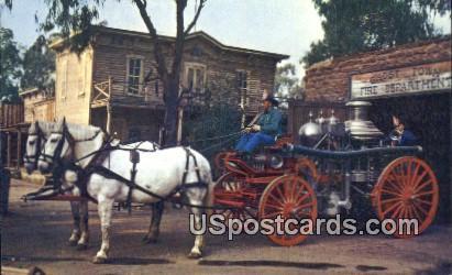 Ghost Town Fire Department - Buena Park, California CA Postcard
