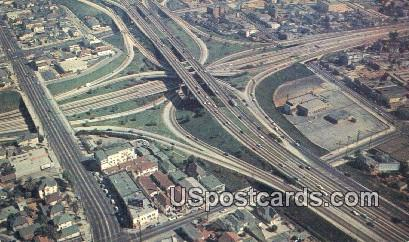 Los Angeles Freeway System - California CA Postcard