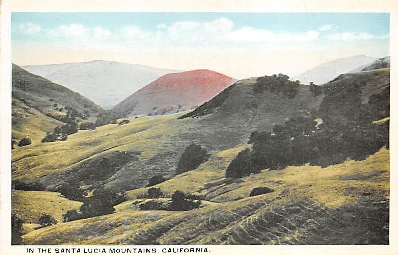 Santa Lucia Mountains CA