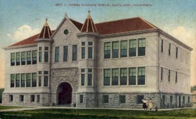 Luther Burbank School - Santa Rosa, California CA Postcard