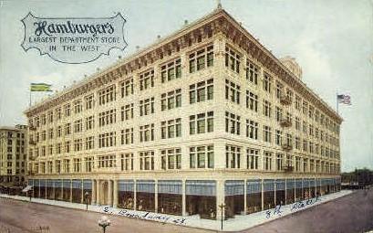 Hamburger's Department Store - Los Angeles, California CA Postcard