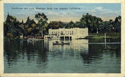 Boathouse & Cafª - Los Angeles, California CA Postcard