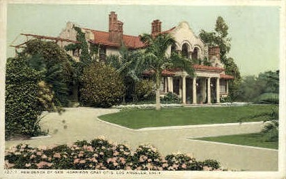Residence of Gen. Harrison Gray Otis - Los Angeles, California CA Postcard