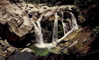 Indian Creek Falls - Yuba River, California CA Postcard
