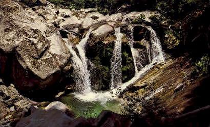 Indian Creek Falls - MIsc, California CA Postcard