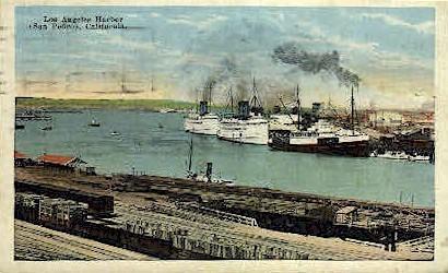 Harbor - Los Angeles, California CA Postcard