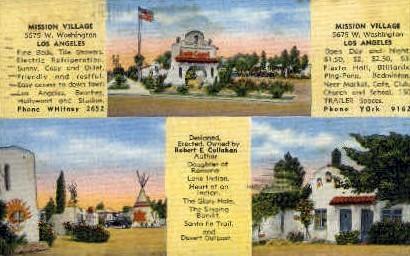 Mission Village - Los Angeles, California CA Postcard