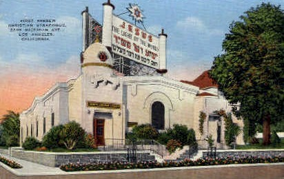 First Hebrew Christian Synagogue - Los Angeles, California CA Postcard