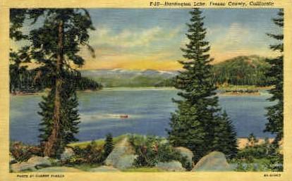Hintington Lake - Fresno, California CA Postcard