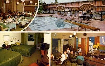 Sands Inn - Bakersfield, California CA Postcard