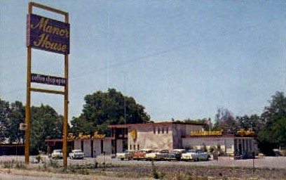 Manor House - Stockton, California CA Postcard