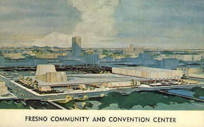 Fresno Community & Convention Center - California CA Postcard