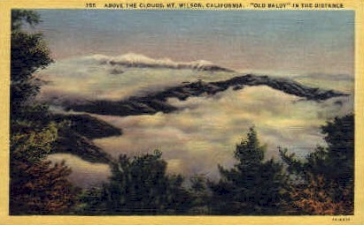 Above the Clouds - Mt. Wilson, California CA Postcard
