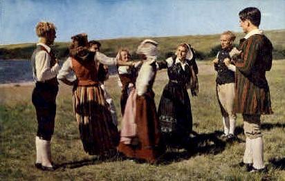 Danish Folkdancers  - Solvang, California CA Postcard