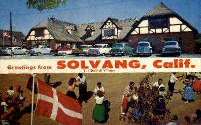 Greetings From - Solvang, California CA Postcard