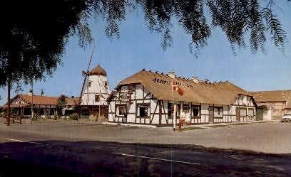 Danish Bldg. - Solvang, California CA Postcard