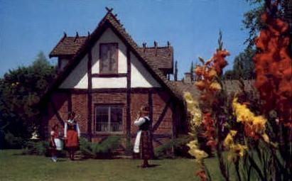 Danish Home - Solvang, California CA Postcard