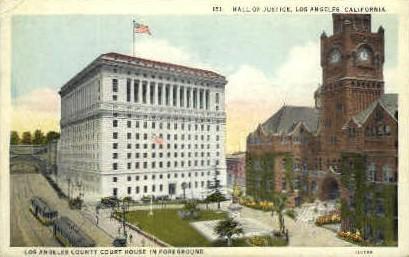 Hall of Justice - Los Angeles, California CA Postcard