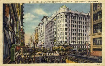 Seventh St.  - Los Angeles, California CA Postcard