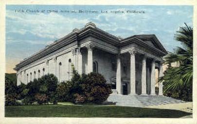 Fifth Church of Christ Scientist - Los Angeles, California CA Postcard