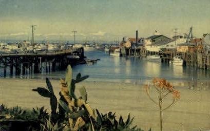 Fishermans Wharf - Monterey, California CA Postcard