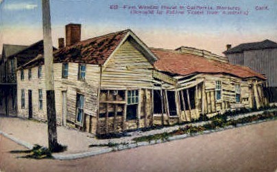 First Wooden House in California - Monterey Postcard