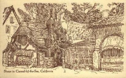 Shops - Carmel by the Sea, California CA Postcard