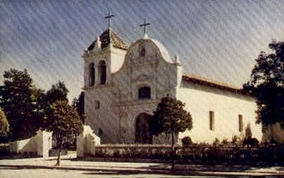 Royal Presidio Chapel - Monterey, California CA Postcard
