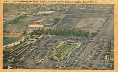 The Farmers Market - Los Angeles, California CA Postcard