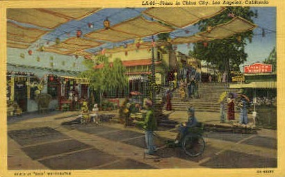 Plaza in China City - Los Angeles, California CA Postcard