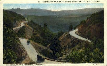 Horseshoe Bend - Los Angeles, California CA Postcard