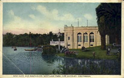 New Cafª & Boathouse - Los Angeles, California CA Postcard