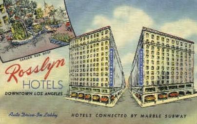 Rosslyn Hotels - Los Angeles, California CA Postcard