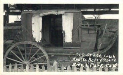Real photo, Old Stage Coach - Buena Park, California CA Postcard