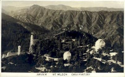 Real photo, Mt. Wilson Observatory - California CA Postcard