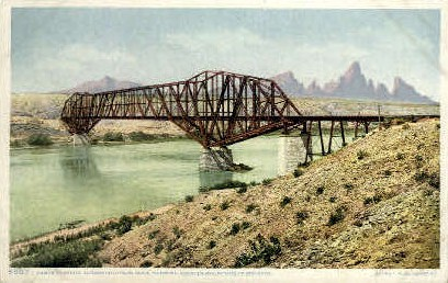 Santa Fe Bridge - Needles, California CA Postcard