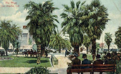 The Plaza - Los Angeles, California CA Postcard