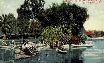 Bamboo Island - Los Angeles, California CA Postcard