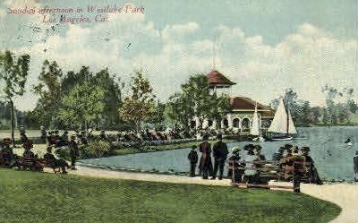 Westlake Park - Los Angeles, California CA Postcard