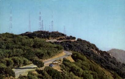 Television Transmitters - Mt. Wilson, California CA Postcard
